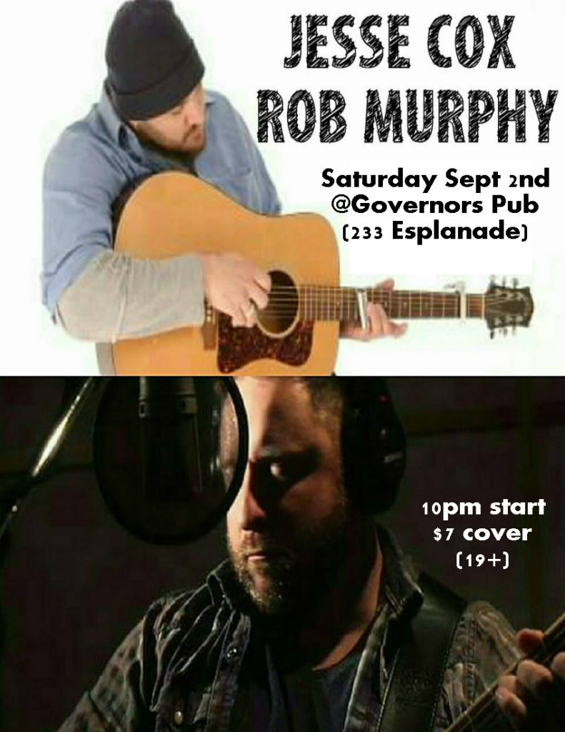 Governor S Pub Amp Eatery Jesse Cox Amp Rob Murphy Saturday